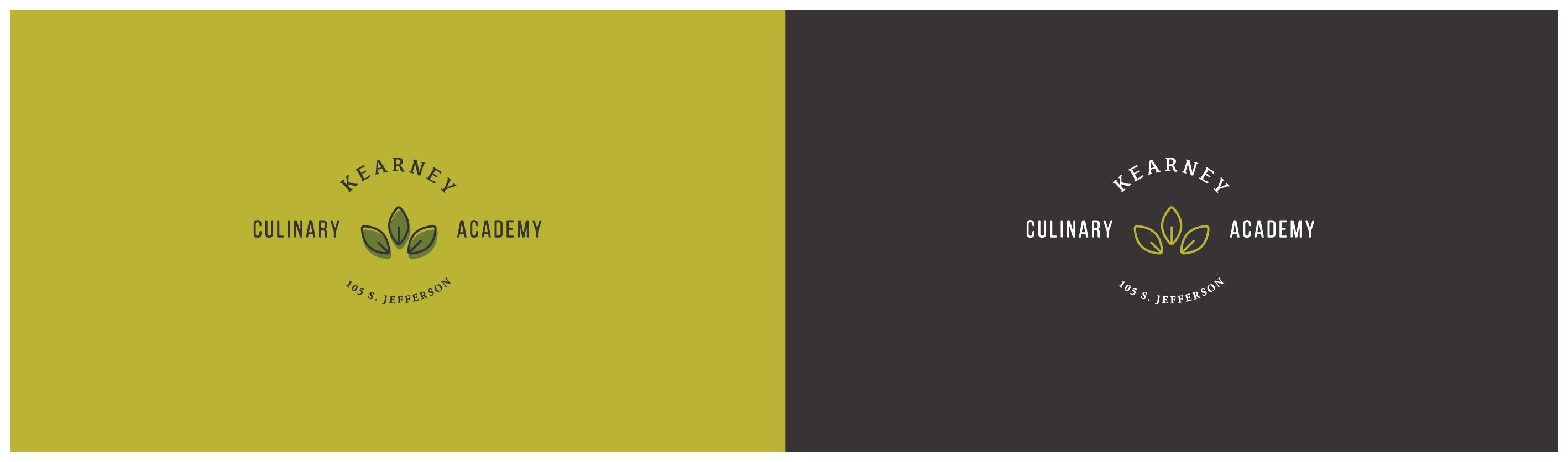 Kearney Culinary Academy Primary logo design - alternates